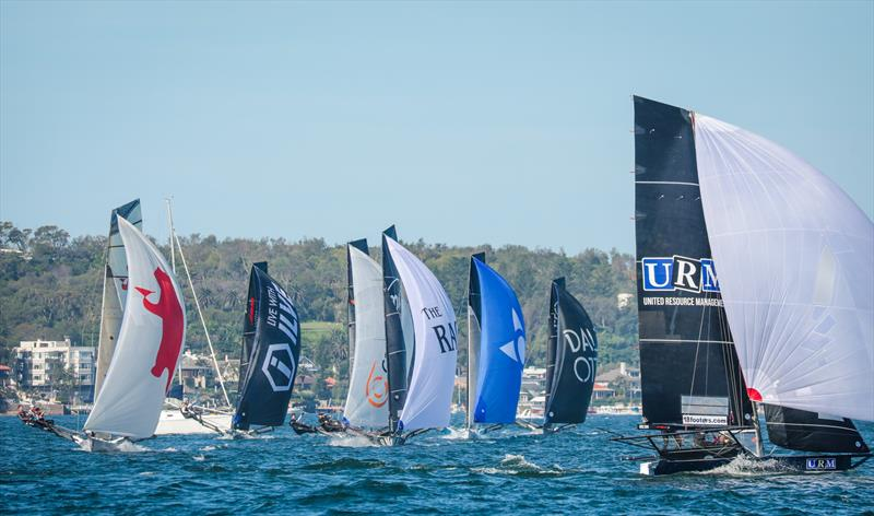 © John Chittenden: 18ft Skiffs racing at the JJ Giltinan on Sydney Harbour