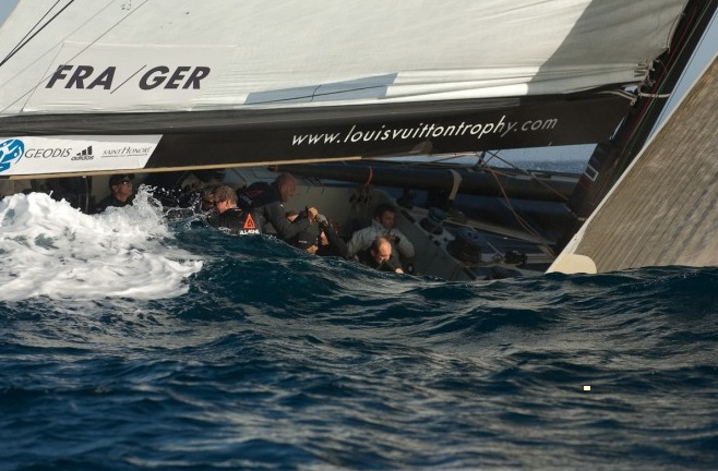 All4One crashing upwind in Nice
