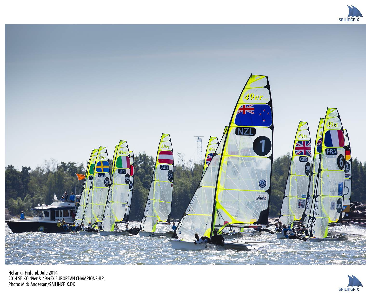 Port tack start for Burling and Tuke