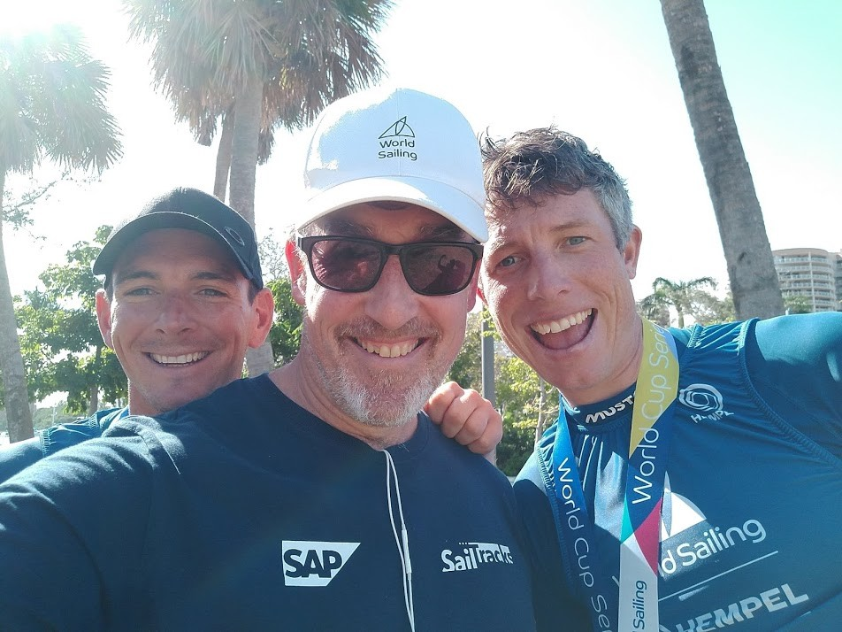 Andy Rice with Dylan Fletcher and Stu Bithell in Miami