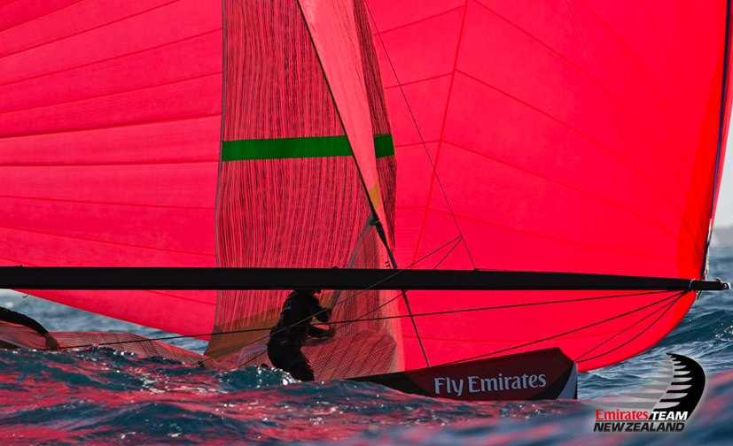 Emirates Team New Zealand bowman