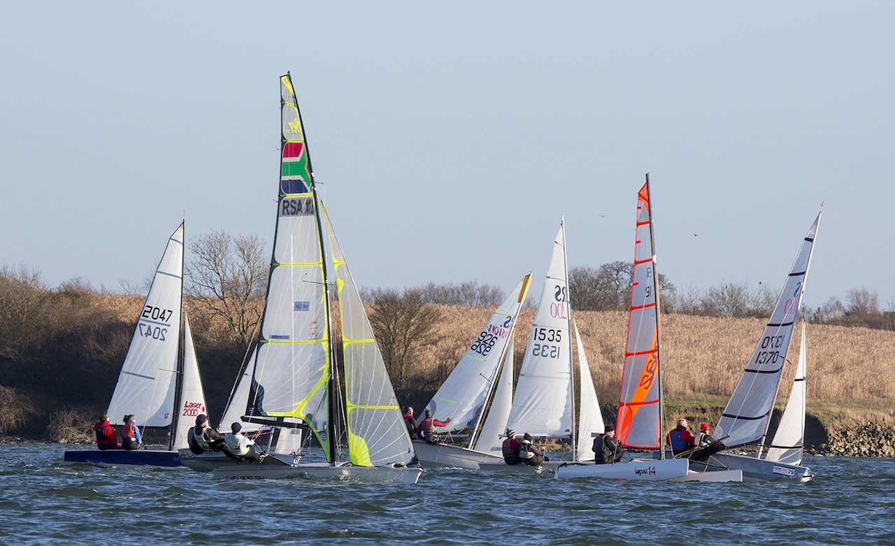 Lasers, RS800s and Fireballs revel in a windy Grafham Grand Prix