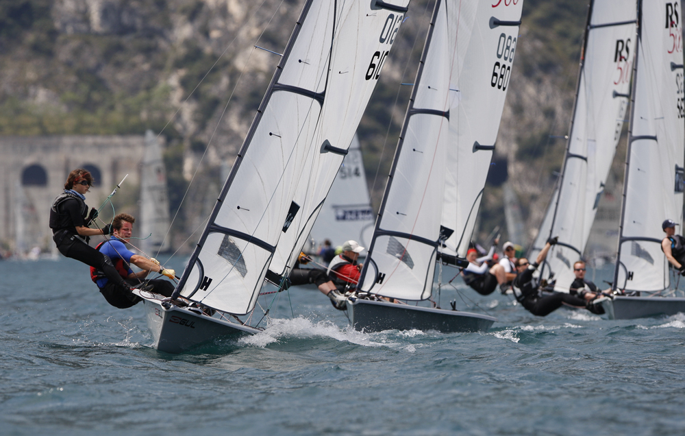 RS500 fleet racing at Lake Garda