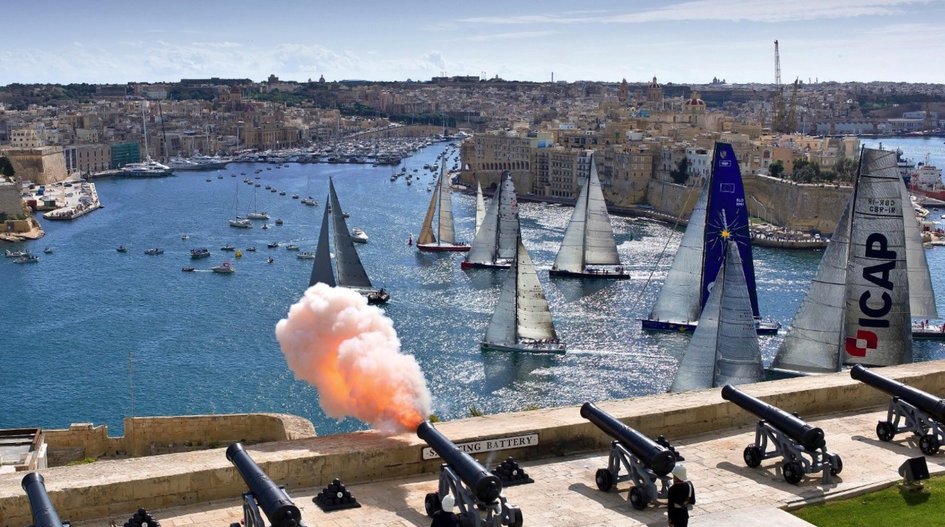 Start Gun at the Rolex Middle Sea Race