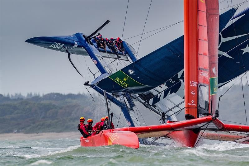 Team USA capsize in Cowes