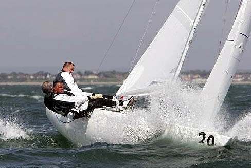 Andy Beadsworth in the Etchells 22