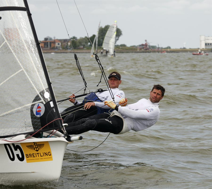 Draper & Hiscocks racing the 49er at Medemblik