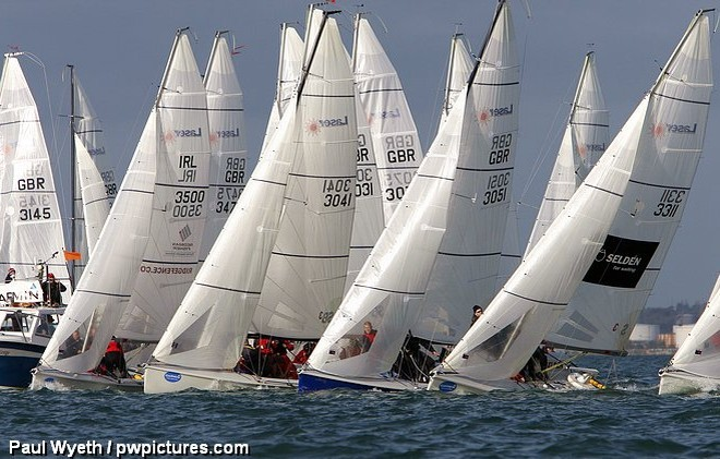 Laser SB3s at the Hamble Winter Series