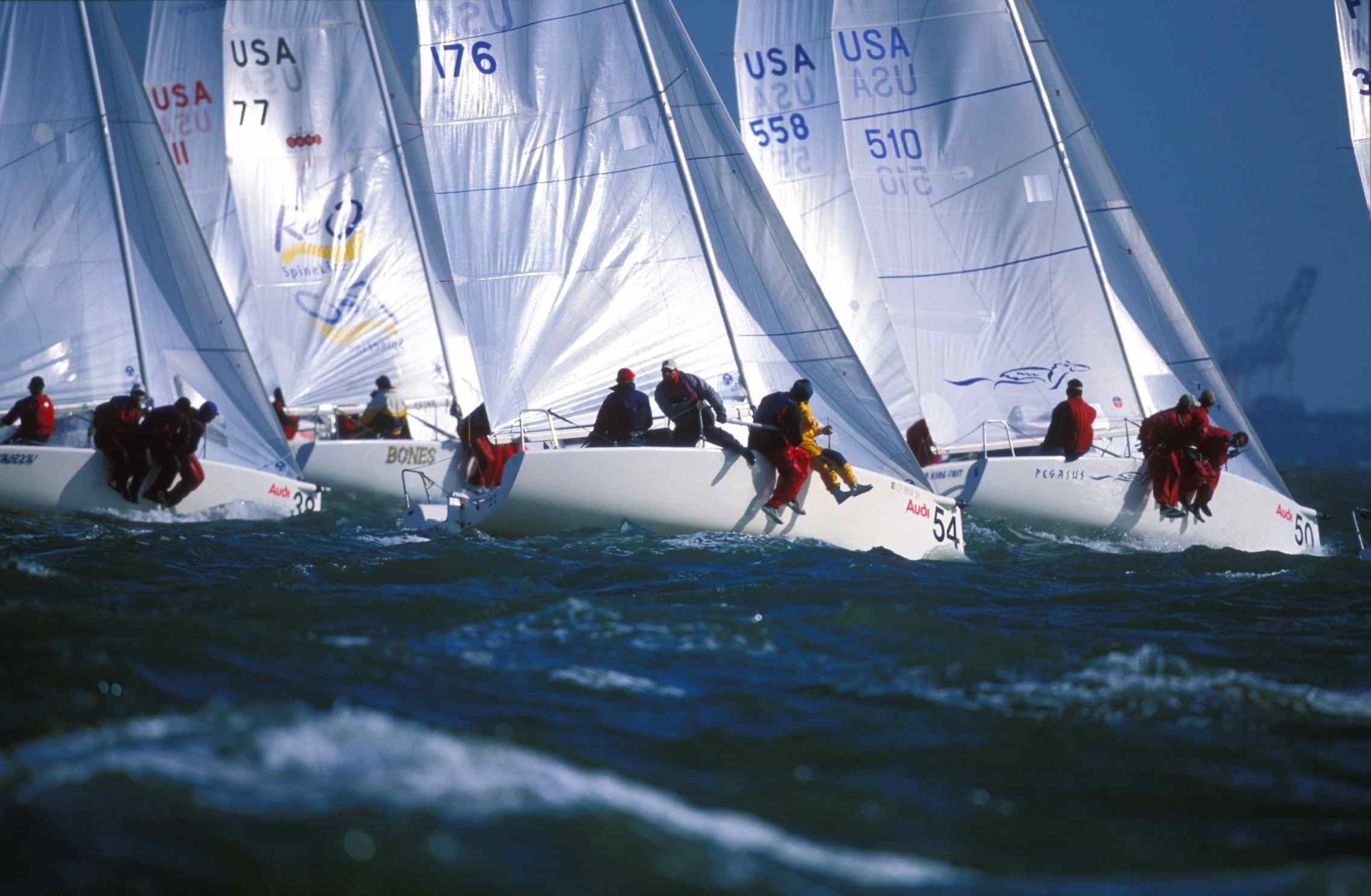 Melges 24 start at Worlds