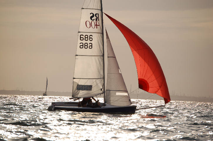 RS400 racing in the Solent