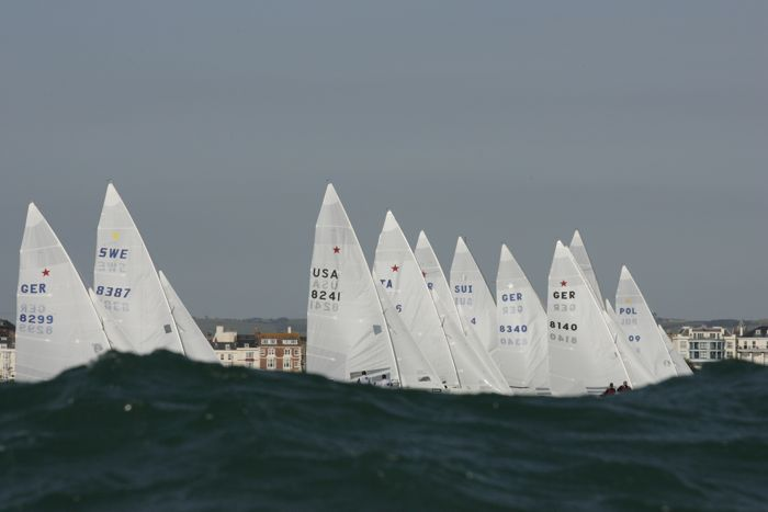 Stars racing at Weymouth, the 2012 Olympic venue